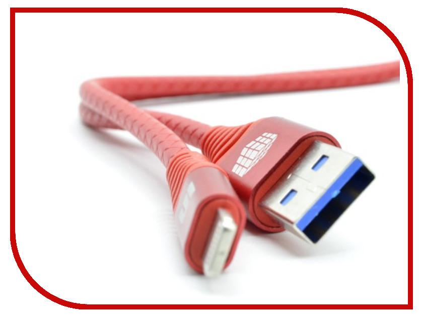 Аксессуар Innovation A1I-Cobra Lightning - USB 3A 1m Red 13189 аксессуар byz bl 658 usb lightning red