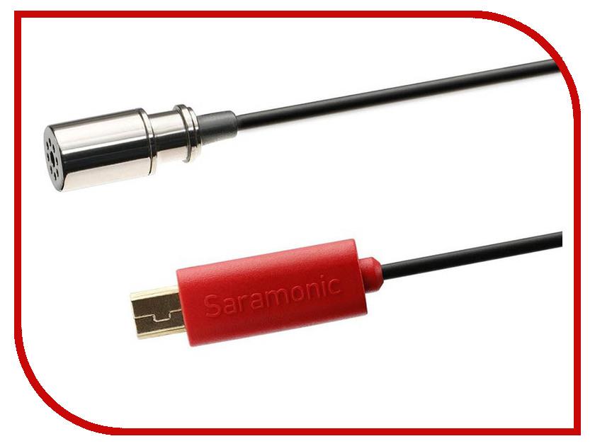 Аксессуар Петличный микрофон Saramonic SR-GMX1 аксессуар кабель переходник saramonic sr gmc1 gopro