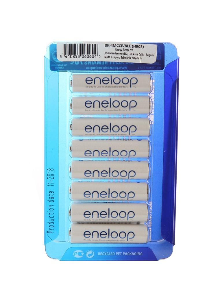 Аккумулятор AAA - Panasonic Eneloop 750 mAh 8BP BK-4MCCE/8LE