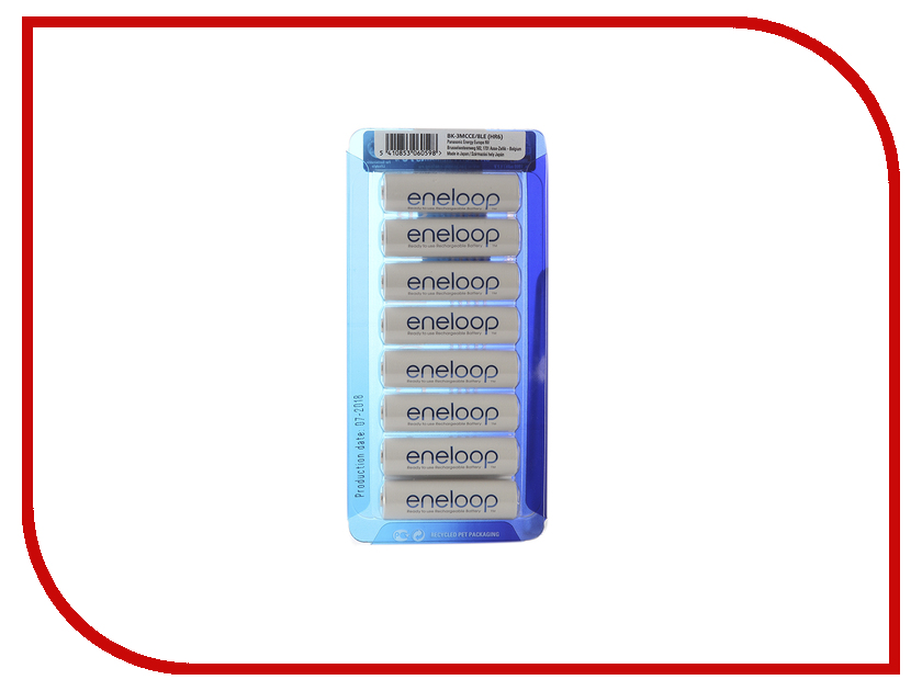 Аккумулятор AA - Panasonic Eneloop 1900 mAh 8BP BK-3MCCE/8LE стоимость