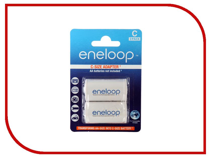 Аксессуар C - Panasonic Eneloop Ni-MH (2 шт) BQ-BS2E/2E аксессуар sanyo eneloop ad c 2bp 2 штуки адаптер c