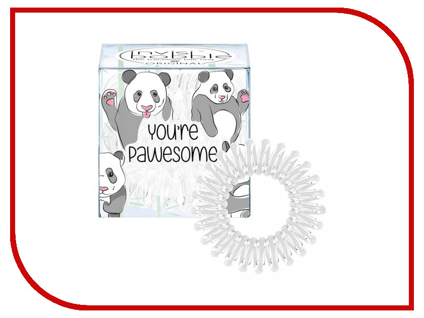Резинки для волос Invisibobble Original You are Pawesome! 3 штуки 3077 резинки invisibobble резинка браслет для волос original pinking of you цвет pinking of you variant hex name fb276a
