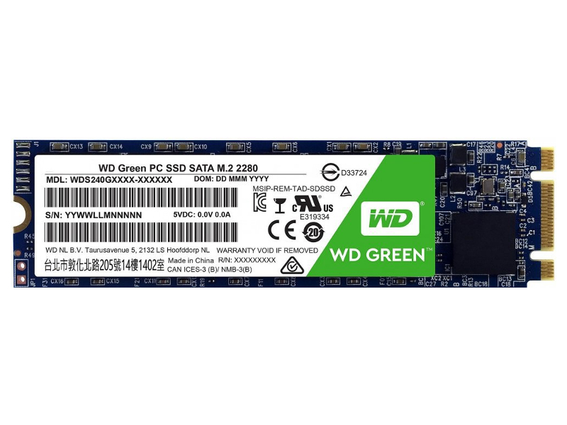 Жесткий диск Western Digital WD GREEN PC SSD 480 GB (WDS480G2G0B)