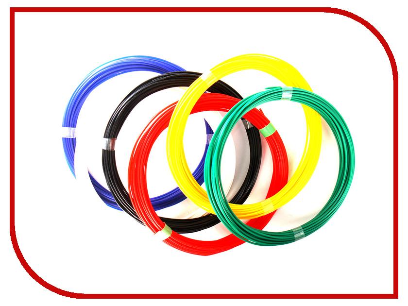 Аксессуар Zoomi PLA-пластик 1.75mm 10м 6 цветов аксессуар spider box authentiq 6 pla 6 цветов по 10m
