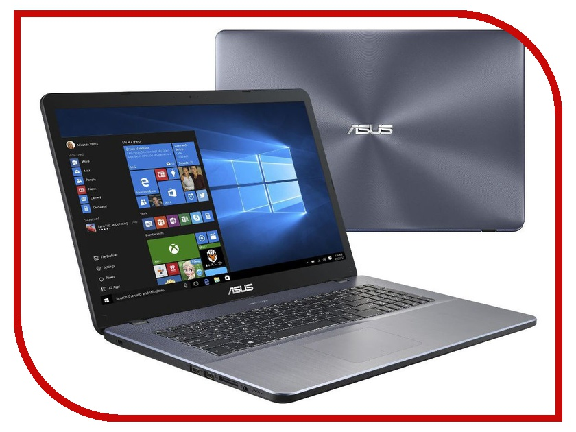 Ноутбук ASUS X705MA-BX019T Star Grey 90NB0IF2-M01330 (Intel Pentium N5000 1.1 GHz/8192Mb/1000Gb/Intel HD Graphics/Wi-Fi/Bluetooth/Cam/17.3/1600x900/Windows 10 Home 64-bit) моноблок asus eeetop pc et2040iuk 19 5 led pentium quad core j2900 2410mhz 4096mb hdd 1000gb intel hd graphics 64mb ms windows 10 home 64 bit [90pt0151 m02320] page 2