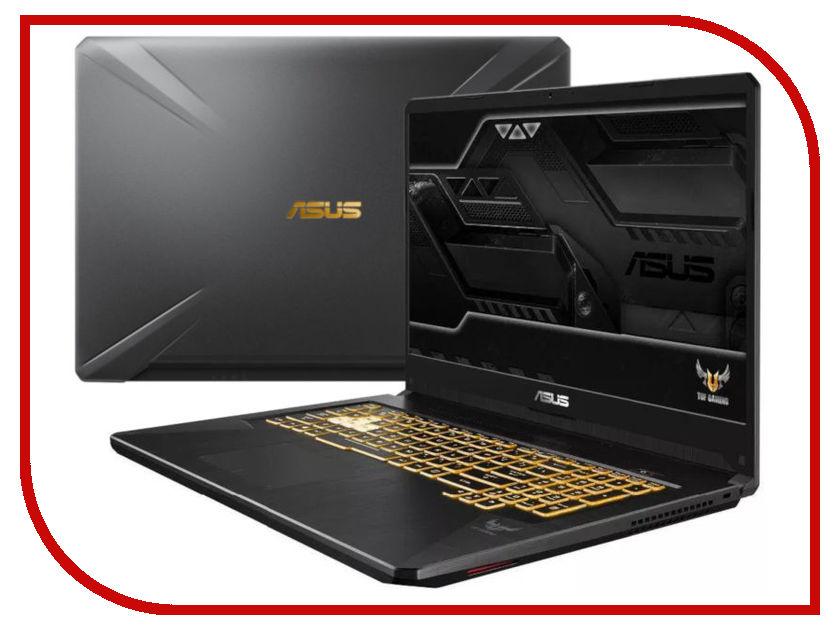 Ноутбук ASUS FX705GE-EW177 Gunmetal 90NR00Z1-M03530 (Intel Core i7-8750H 2.2 GHz/8192Mb/1000Gb+256Gb SSD/nVidia GeForce GTX 1050Ti 4096Mb/Wi-Fi/Bluetooth/Cam/17.3/1920x1080/DOS)