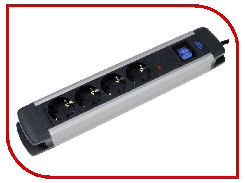 Сетевой фильтр Schwabe Alux 4 Sockets 1.5m Black-White 18364AS сетевой фильтр proconnect 4 sockets 3m white 11 9524