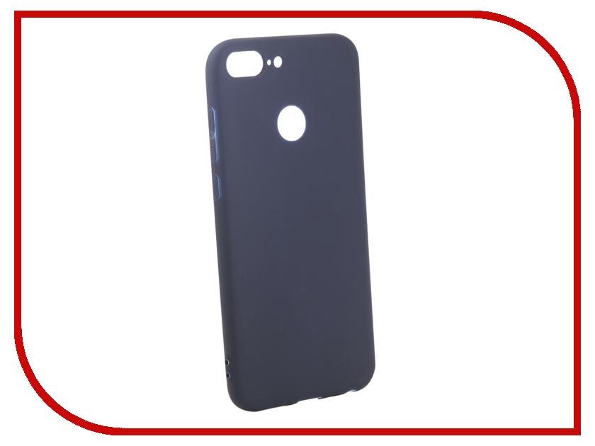 Аксессуар Чехол для Honor 9 Lite Pero Soft Touch Blue PRSTC-H9LBL цена и фото