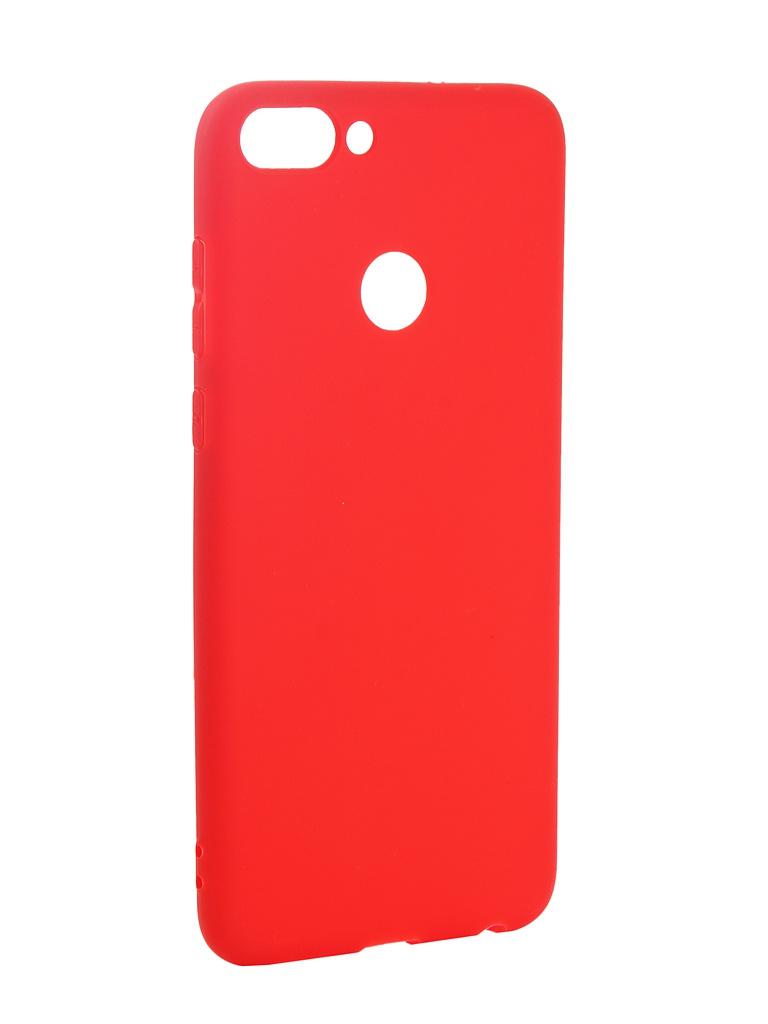 Аксессуар Чехол Pero для Huawei P Smart Soft Touch Red PRSTC-HPSMR