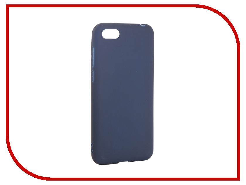 Аксессуар Чехол для Huawei Y5 Prime 2018 Pero Soft Touch Blue PRSTC-Y518BL