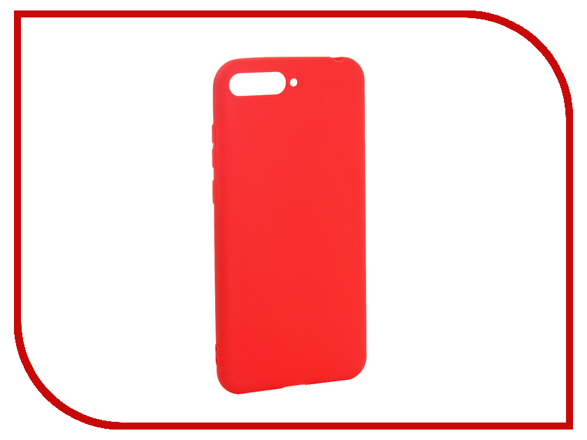 Аксессуар Чехол для Huawei Y6 2018 Pero Soft Touch Red PRSTC-Y618R аксессуар чехол для huawei p20 lite pero soft touch black prstc p20lb