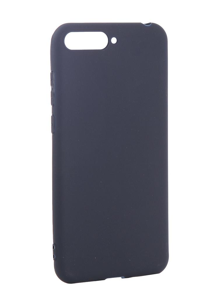 Аксессуар Чехол Pero для Huawei Y6 2018 Soft Touch Blue PRSTC-Y618BL