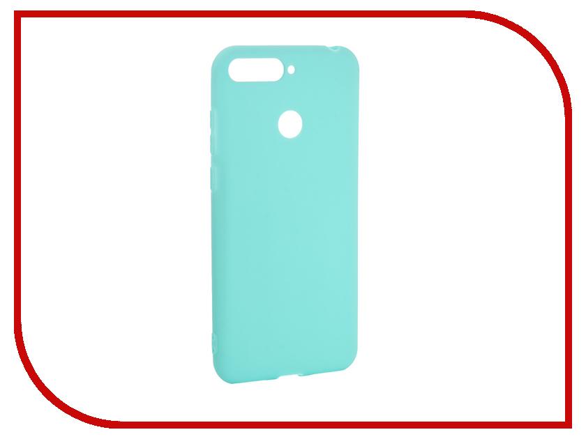 Аксессуар Чехол для Huawei Y6 Prime 2018 Pero Soft Touch Turquoise PRSTC-Y618PC аксессуар чехол для huawei p20 lite pero soft touch black prstc p20lb