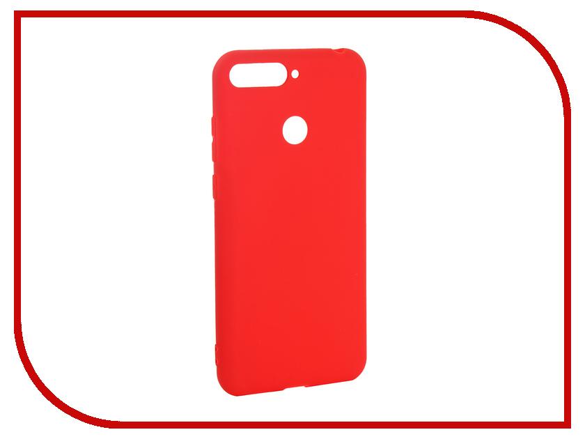 Аксессуар Чехол для Huawei Y6 Prime 2018 Pero Soft Touch Red PRSTC-Y618PR чехол red line unit для huawei y6 prime 2018 black