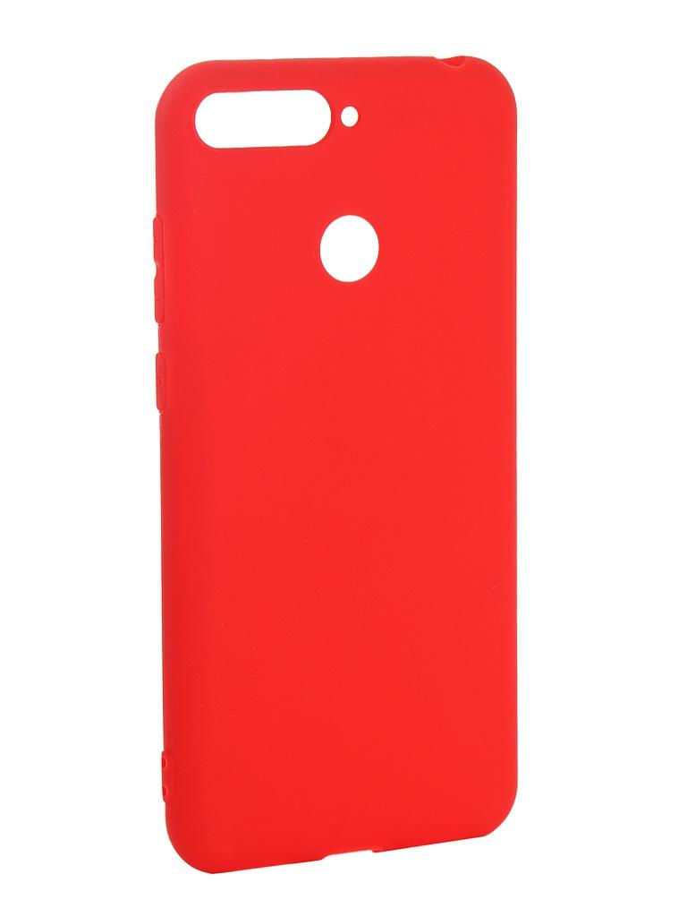 Аксессуар Чехол Pero для Huawei Y6 Prime 2018 Soft Touch Red PRSTC-Y618PR