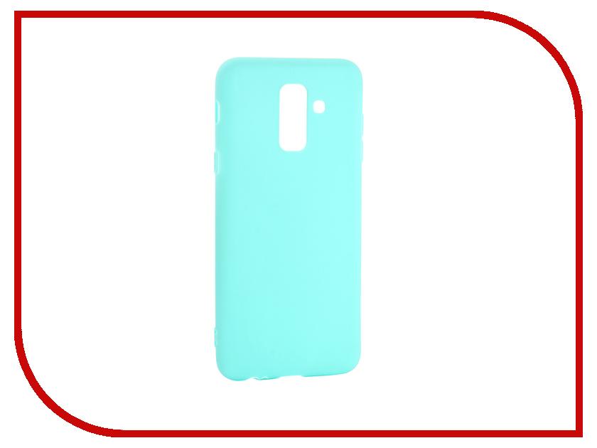 Аксессуар Чехол для Samsung Galaxy A6 Plus Pero Soft Touch Turquoise PRSTC-A6PC аксессуар чехол для nokia 7 plus pero soft touch black prstc n7pb