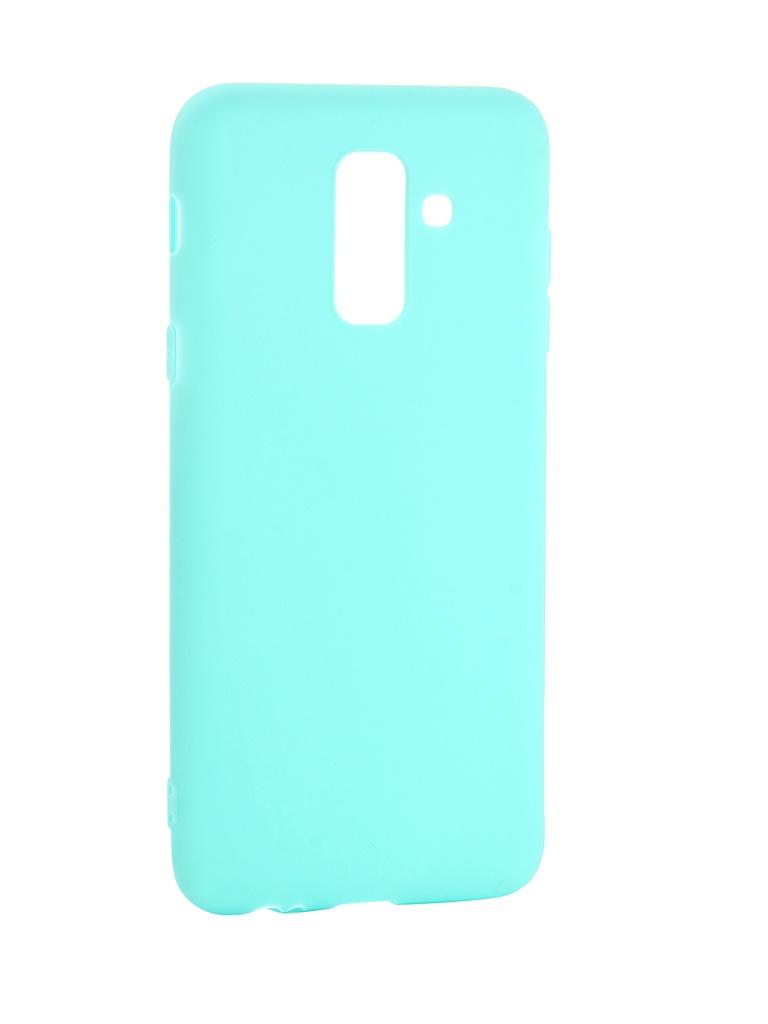 Аксессуар Чехол Pero для для Samsung Galaxy A6 Plus Soft Touch Turquoise PRSTC-A6PC аксессуар чехол для samsung galaxy s8 plus pero soft touch black prstc s8pb