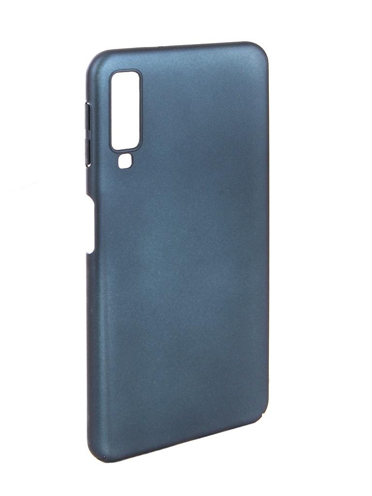 Аксессуар Чехол Zibelino для Samsung A7 A750F 2018 PC Blue ZPC-SAM-A750-BLU аксессуар чехол zibelino для samsung galaxy a7 a750f 2018 hard plast black zhp sam a750 blk