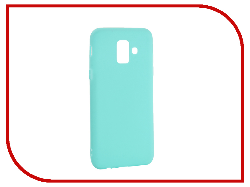 Аксессуар Чехол для Samsung Galaxy A6 Pero Soft Touch Turquoise PRSTC-A6C аксессуар чехол для samsung j8 2018 pero soft touch black prstc j818b