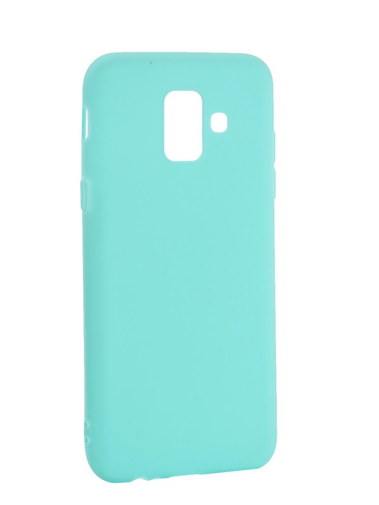 Аксессуар Чехол Pero для Samsung Galaxy A6 Soft Touch Turquoise PRSTC-A6C