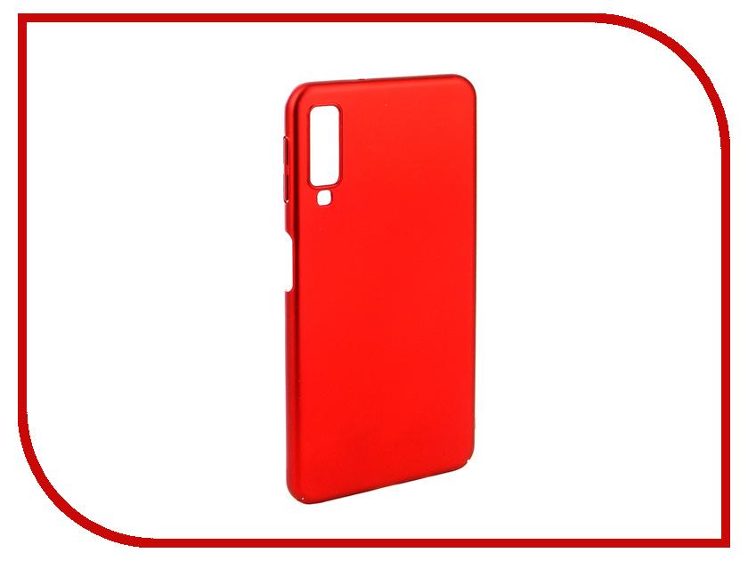Аксессуар Чехол для Samsung A7 A750F 2018 Zibelino PC Red ZPC-SAM-A750-RED аксессуар чехол для samsung a8 2018 a530 zibelino clear view blue zcv sam a530 blu