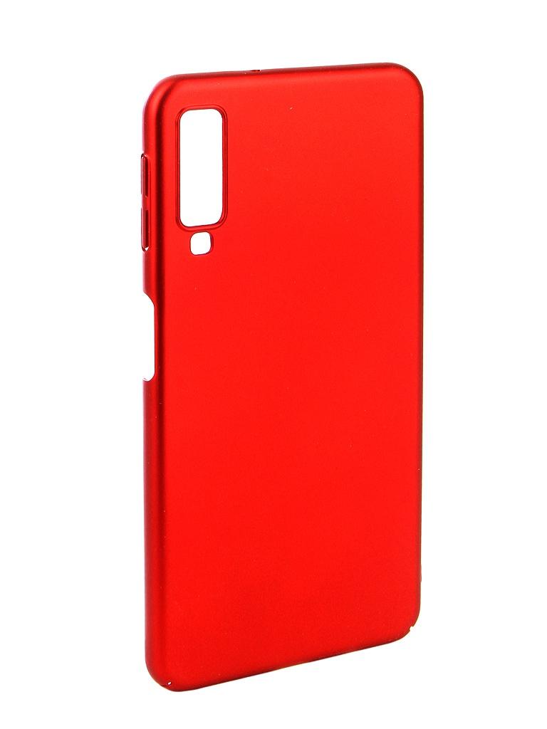 Аксессуар Чехол Zibelino для Samsung A7 A750F 2018 PC Red ZPC-SAM-A750-RED аксессуар чехол zibelino для samsung galaxy a7 a750f 2018 hard plast black zhp sam a750 blk