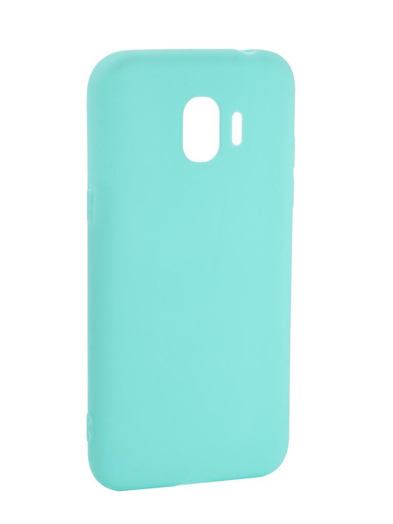 Аксессуар Чехол Pero для Samsung Galaxy J2 2018 Soft Touch Turquoise PRSTC-J218C