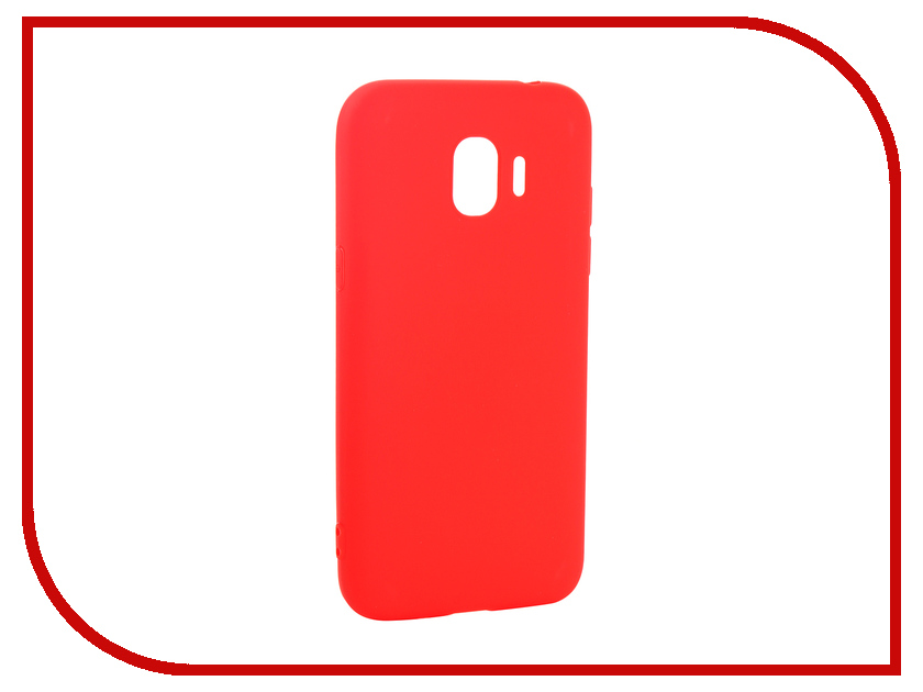 Аксессуар Чехол для Samsung Galaxy J2 2018 Pero Soft Touch Red PRSTC-J218R цена и фото