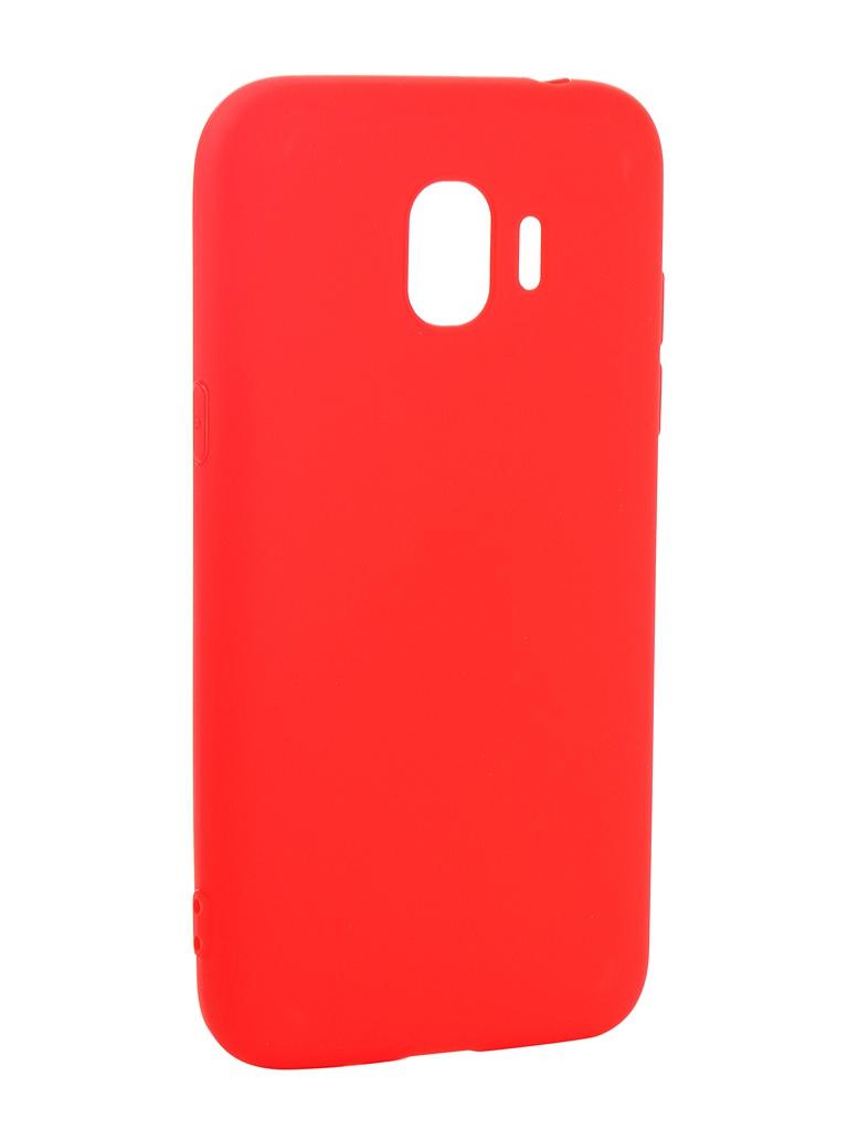 Фото - Аксессуар Чехол Pero для Samsung Galaxy J2 2018 Soft Touch Red PRSTC-J218R аксессуар чехол для samsung galaxy a7 2018 pero soft touch red prstc a718r