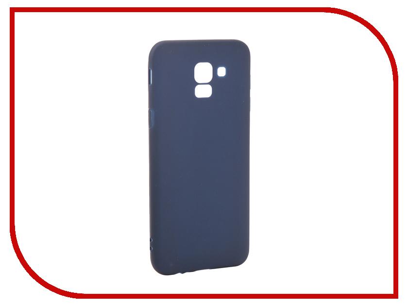 Аксессуар Чехол для Samsung Galaxy J6 2018 Pero Soft Touch Blue PRSTC-J618BL цена и фото