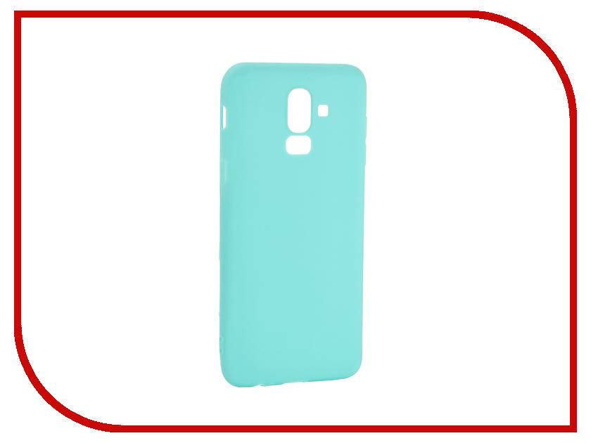 Аксессуар Чехол для Samsung Galaxy J8 2018 Pero Soft Touch Turquoise PRSTC-J818C цена и фото