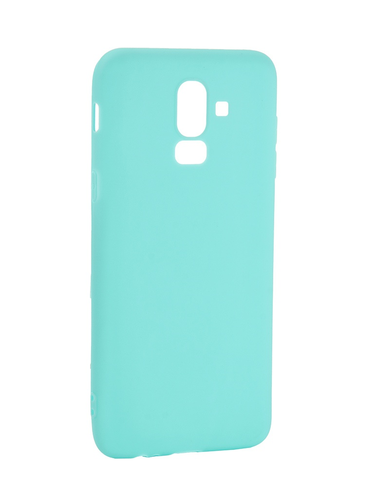 Аксессуар Чехол Pero для Samsung Galaxy J8 2018 Soft Touch Turquoise PRSTC-J818C