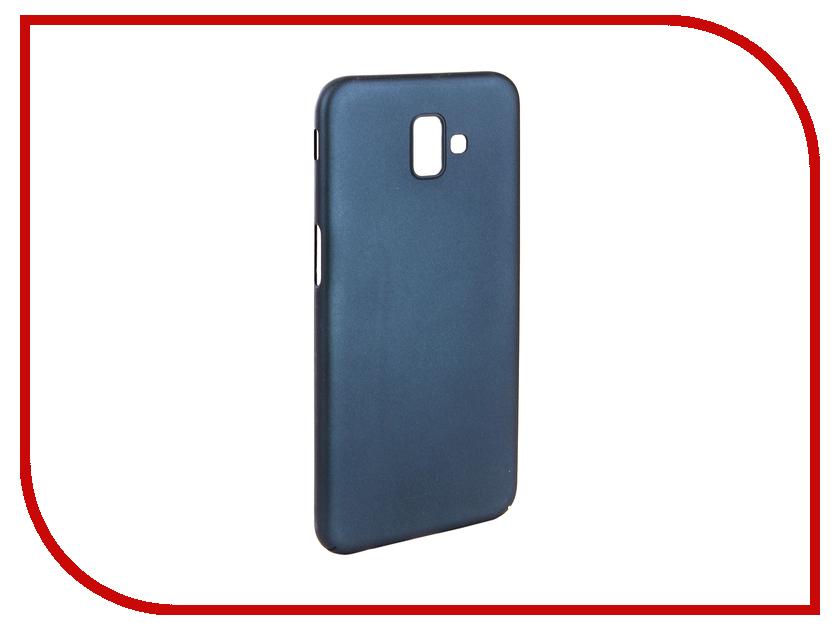 Аксессуар Чехол для Samsung J6 Plus J610F 2018 Zibelino PC Blue ZPC-SAM-J610F-BLU аксессуар чехол для samsung a8 2018 a530 zibelino clear view blue zcv sam a530 blu