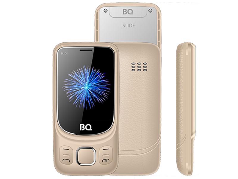 Сотовый телефон BQ BQ-2435 Slide Gold сотовый телефон bq aquaris v 2gb ram 16gb mist gold