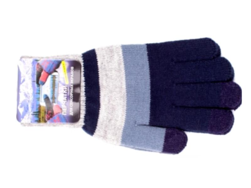 Теплые перчатки для сенсорных дисплеев Harsika 0618 Grey-Blue недорого
