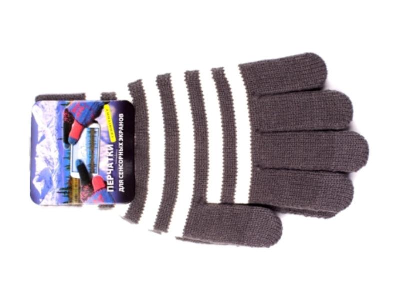 Теплые перчатки для сенсорных дисплеев Harsika 0918 Light Grey