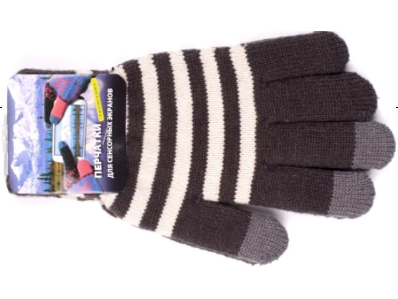 Теплые перчатки для сенсорных дисплеев Harsika 1018 Dark Grey