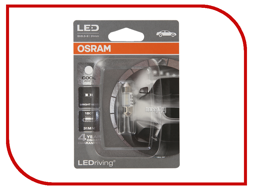 Фото - Лампа OSRAM Fest T10.5 12V-0.5W SV8.5-31/8 (1 штукa) 6431CW-01B awo 100% original p vip 180 0 8 e20 8 brand new projector lamp bulb for osram 180days warranty big discount hot sales vip180w