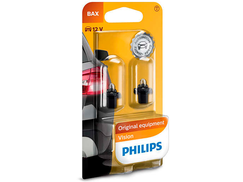 Лампа Philips BAX 12V-1.2W BAX8.5d/2 Black (2 штуки) 12597B2 philips philips fx10 12 fm 2 0 минисистема