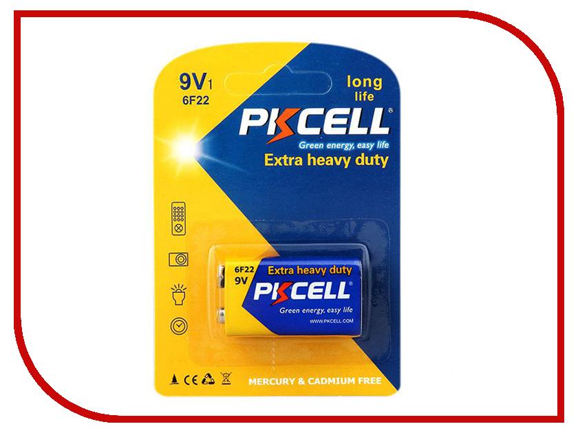 Батарейка Крона - Pkcell 6F22-1B 9V (1 штука) батарейка крона camelion 6f22 green 6f22 bp1g 6f22 1bl