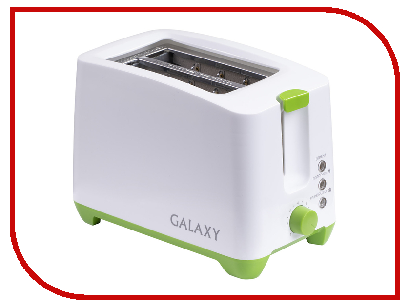 Тостер Galaxy GL2907 White-Green тостер bbk tr72m white