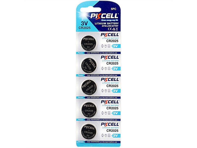 Батарейка CR2025 - Pkcell CR2025-5B (5 штук)