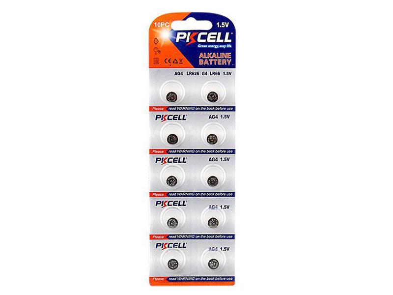 Батарейка Pkcell LR66/AG4 AG4-10B (10 штук)