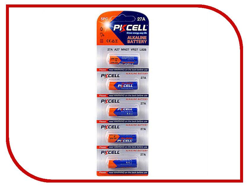 Батарейка A27 - Pkcell 12V 27A-5B (5 штук) vq1201 5b