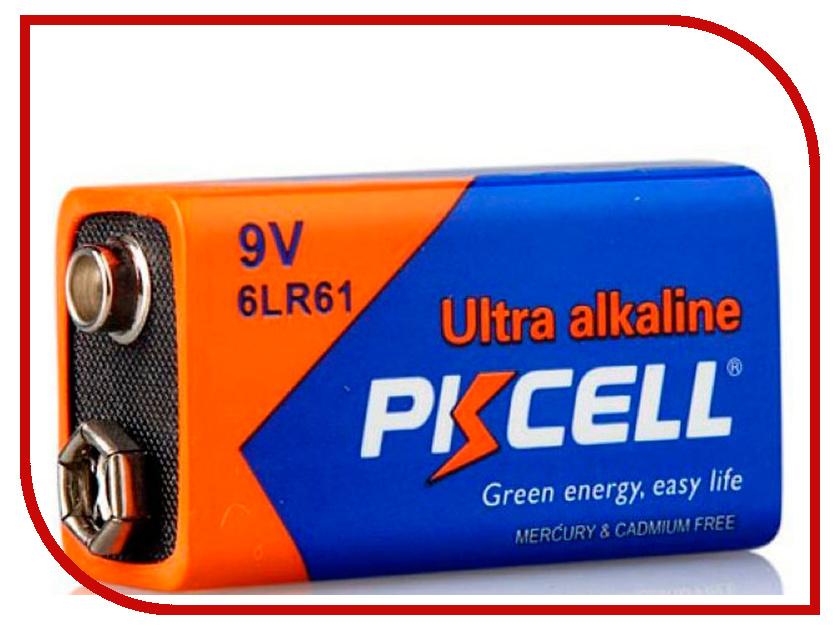 Батарейка КРОНА - Pkcell 6LR61-1B 9V (1 штука) dh 100% 100 1 18 28 1b 1 1b