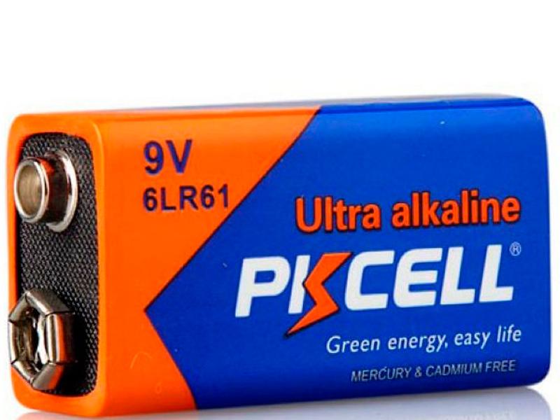 Батарейка КРОНА - Pkcell 6LR61-1B 9V (1 штука) батарейка крона duracell turbo max 6lr61 1bl 9v 1шт
