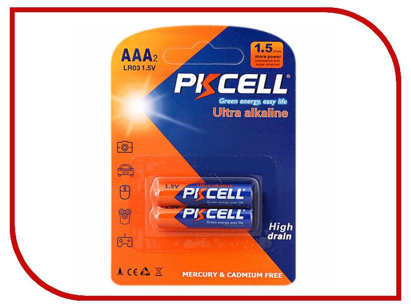 Батарейка AAA - Pkcell LR03-2B (2 штуки) lemo fgg 2b 308 clad egg 2b 308 compatible lemo 8 pins metal circular push pull electrical connector 2b series plug socket