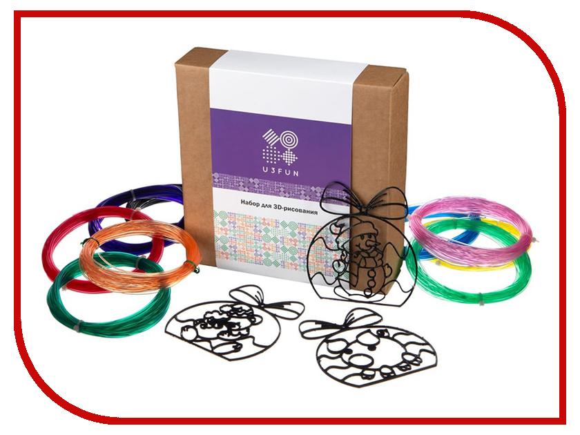 Аксессуар U3FUN Набор для 3D рисования Елочные игрушки татьяна лаптева необыкновенные елочные игрушки из обыкновенных материалов
