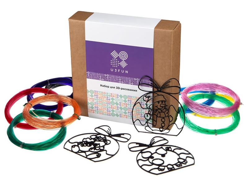 Аксессуар U3FUN Набор для 3D рисования Елочные игрушки наборы для рисования лавка чудес набор для раскрашивания надувной игрушки лошадка