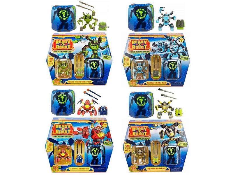 Игрушка Ready2Robot Две капсулы и оружие Микс 553878 эманера 40мг 28 капсулы
